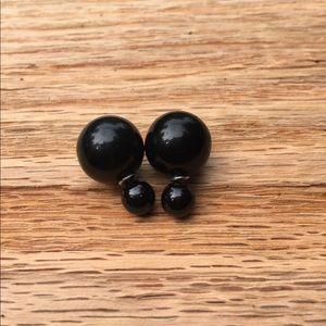 Black Pearl Earring Set